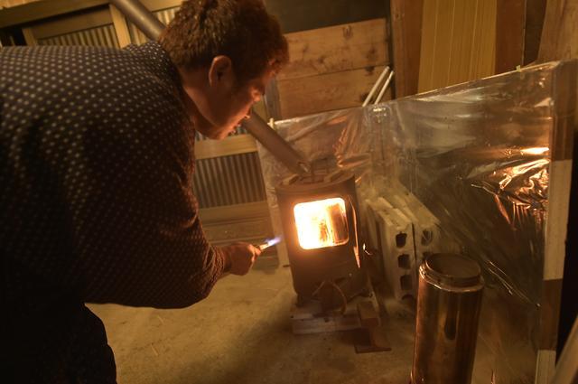 画像: 薪ストーブって、こんなに暖かいんだ~!!!