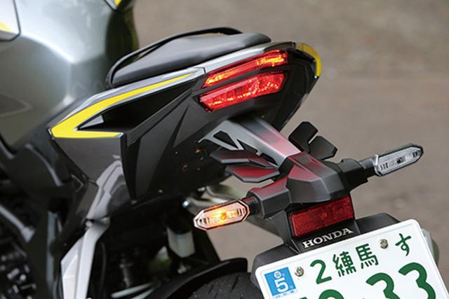 画像: ヘッドライト同様にライトガイド構造によるライン発光タイプを採用したLEDテールライト。