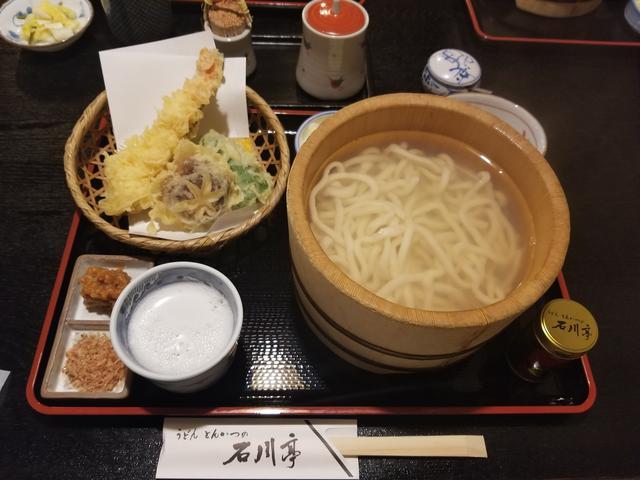 画像: おしぼりうどん天ぷらセット 七味が八幡屋礒五郎だった!(長野県の名物です)