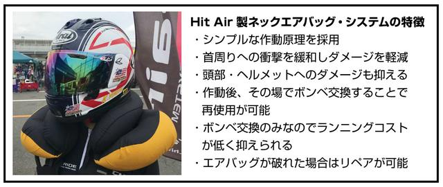 画像2: Hit Air製ネックエアバッグ・システムを標準装備した既製サイズのレーシングスーツ