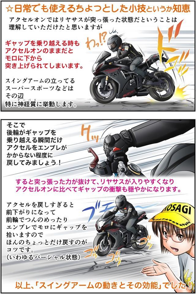 画像4: Motoジム! おまけのコーナー (スイングアーム式サスペンションのここがスゴい!)  作・ばどみゅーみん
