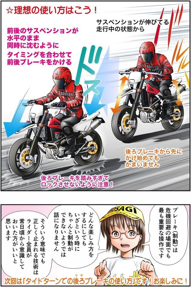 画像4: Motoジム! おまけのコーナー (減速時の姿勢制御! 後ろブレーキの使い方)  作・ばどみゅーみん