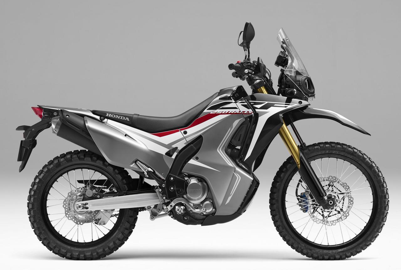 画像: ローダウン仕様のCRF250 RALLY Type LD<ABS>にもブラックが追加されます。