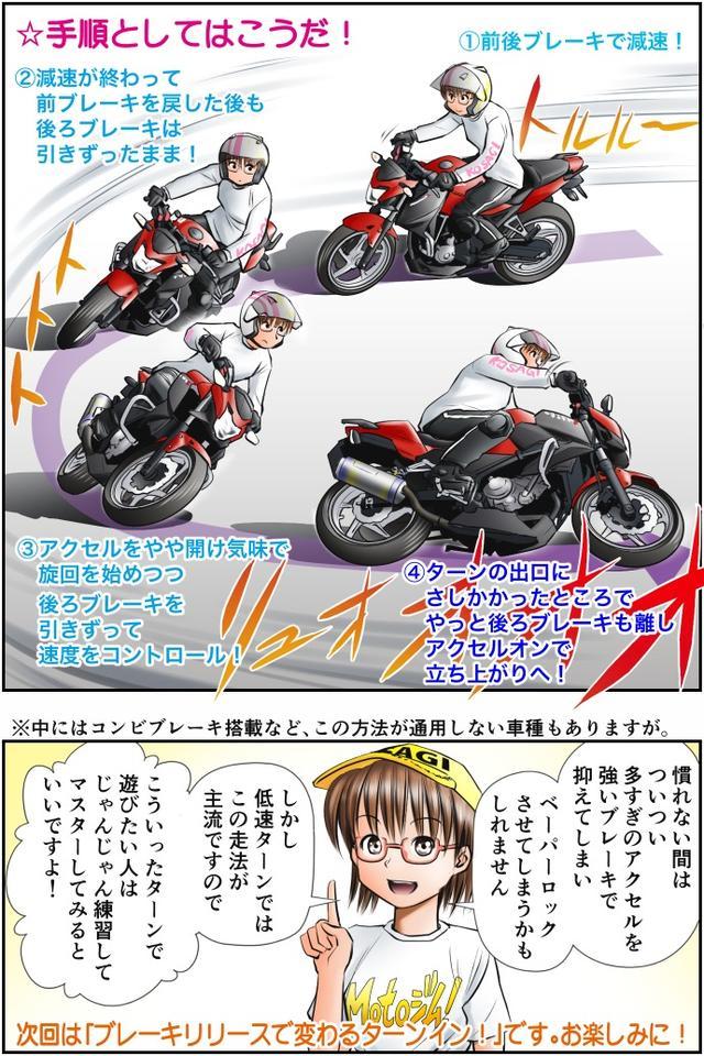 画像4: Motoジム! おまけのコーナー (後ろブレーキを使った駆動力コントロール)  作・ばどみゅーみん