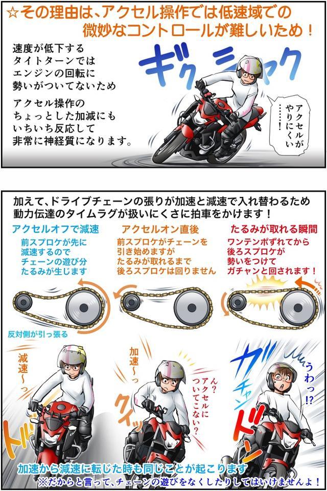 画像2: Motoジム! おまけのコーナー (後ろブレーキを使った駆動力コントロール)  作・ばどみゅーみん