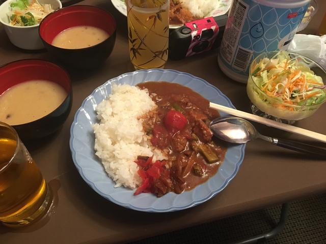 画像: ばいくっく名物【山中湖カレー】も美味しくいただきました!