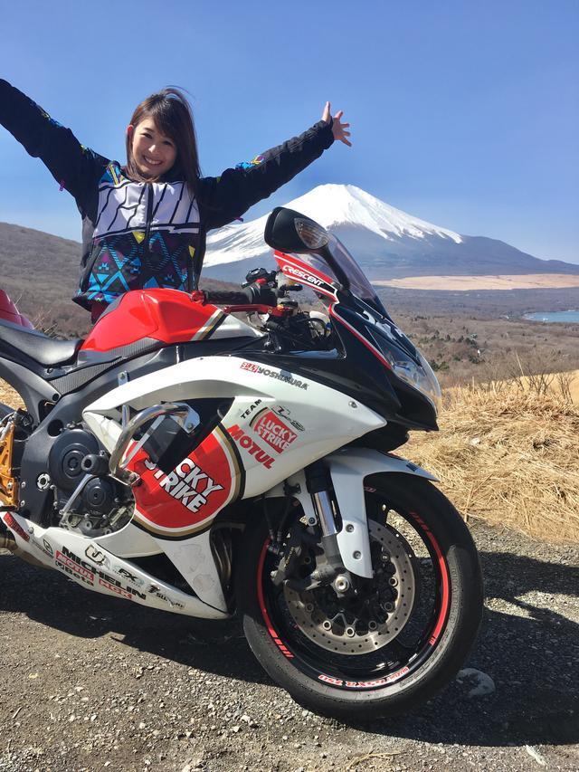画像: 富士山✕バイク で撮影するのが夢で、念願叶ってもう既に大満足でした\( ˆoˆ )/♡