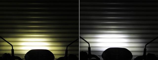 画像2: 3000ケルビン(左)、6000ケルビン(右)