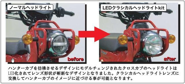 画像1: クラシカルレンズを採用したLEDヘッドライトキット