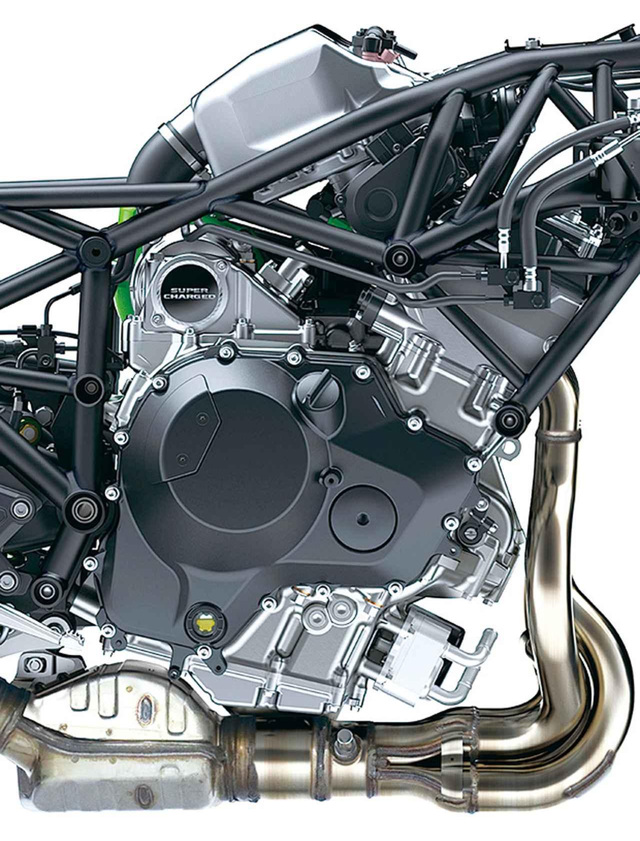 画像: パワースペックこそ同じ200PSだが、H2とは異なり、新作のスーパーチャージャーを採用し、圧縮比アップなどエンジン本体も改良。扱いやすさと省燃費も獲得している。