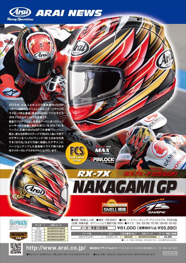 画像3: アライヘルメット RX-7X NAKAGAMI GP