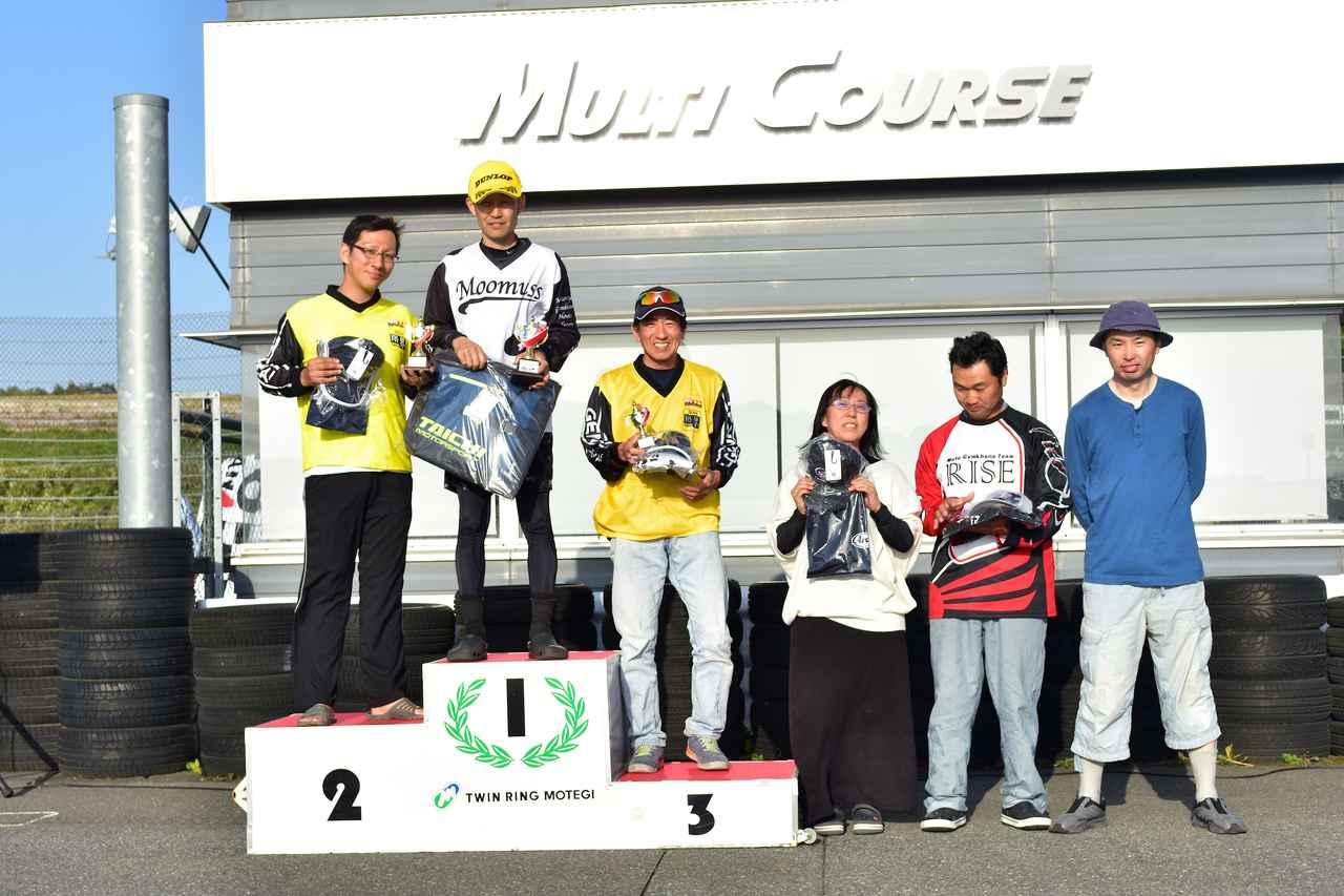 画像: C1級表彰台 1位・刑部選手、2位・濱田選手、3位・小林選手、4位・本間選手、5位・和田選手、6位・岡村選手