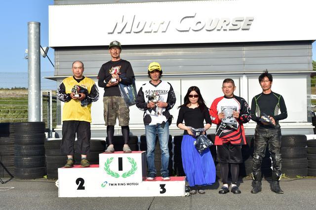 画像: C2級表彰台 1位・白川選手、2位・藤浪選手、3位・田村選手、4位・高橋選手、5位・福澤選手、6位・加賀選手