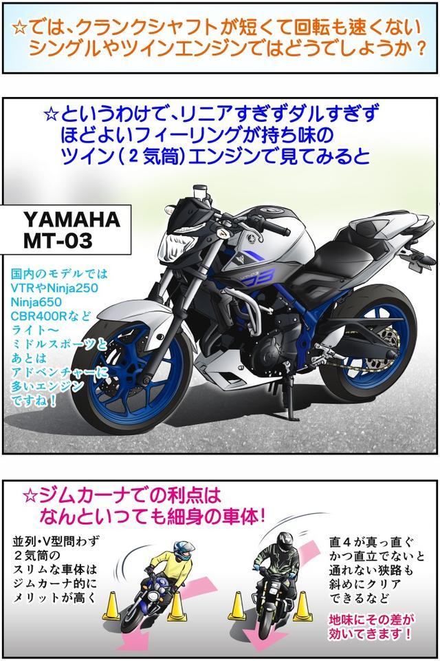 画像2: Motoジム! おまけのコーナー (多気筒とシングル・ツインエンジンの運動性の違い・その2)  作・ばどみゅーみん