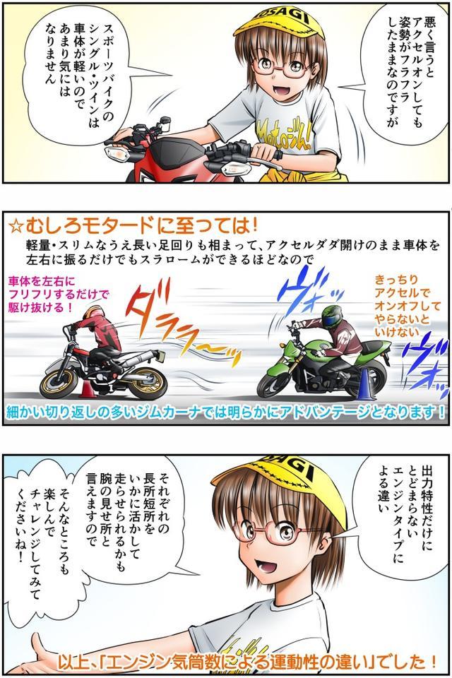 画像4: Motoジム! おまけのコーナー (多気筒とシングル・ツインエンジンの運動性の違い・その2)  作・ばどみゅーみん