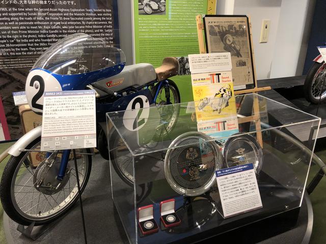 画像: 昔の2輪レーサー、1962年「RM62」 マン島TTレースで優勝を飾りました。 ライダーはエルンスト・デグナー。鈴鹿サーキットにもその名を残しています。