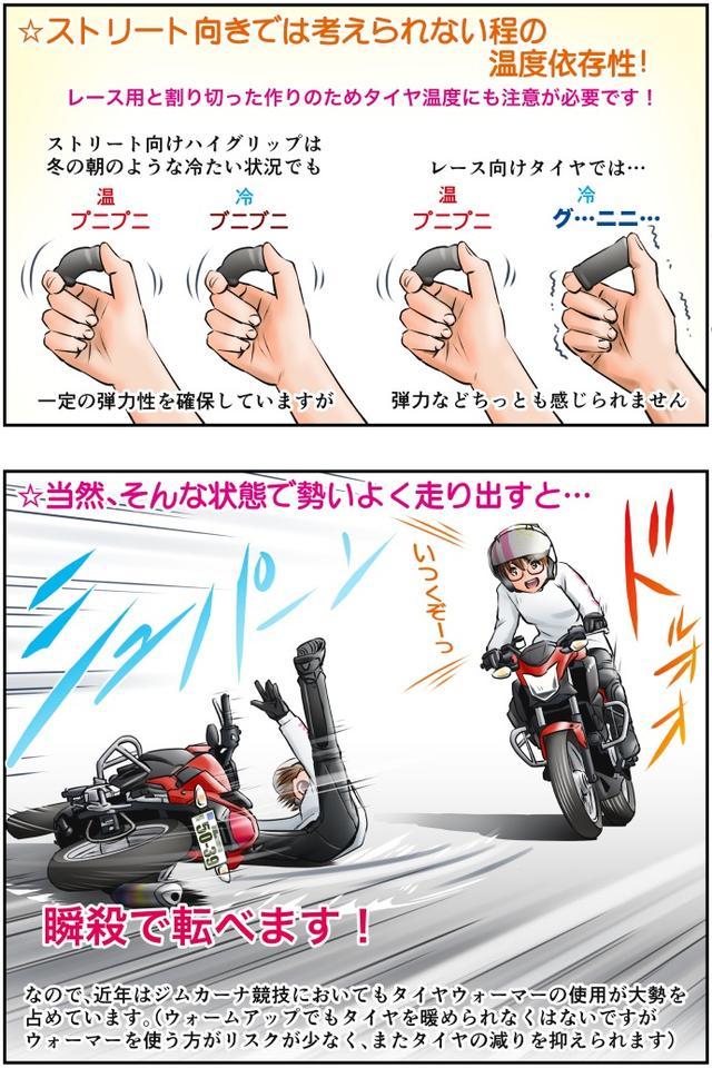 画像3: Motoジム! おまけのコーナー (プロダクションレース向けタイヤについてのあれこれ)  作・ばどみゅーみん
