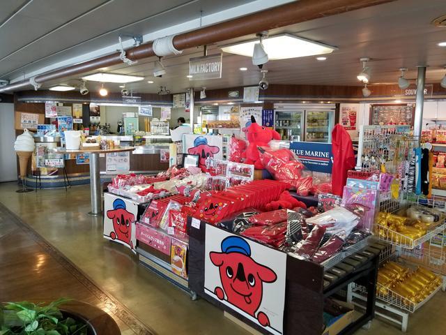 画像: 売店もあったよ! 千葉出発だからチーバくんがいっぱい! 船にもチーバくんの絵が書いてあったと思う…