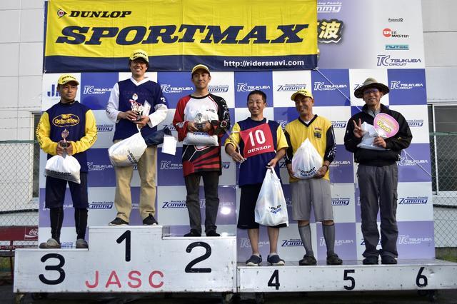 画像: A級入賞者。左から3位・吉野選手、1位・冨永選手、2位・小川選手、4位・早川選手、5位・辻家選手、6位・廣瀬選手