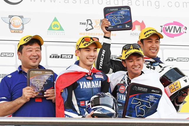 画像: 第2戦オーストラリアではヤマハ勢が表彰台を独占 優勝はユウキ、2位ラタポン、3位Mdラムダンでした 写真/Yamaha