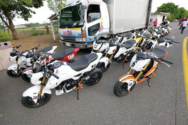 画像: レンタルバイクとして、ホンダのエイプ50/100や、125㏄モデルのグロムが用意されている。