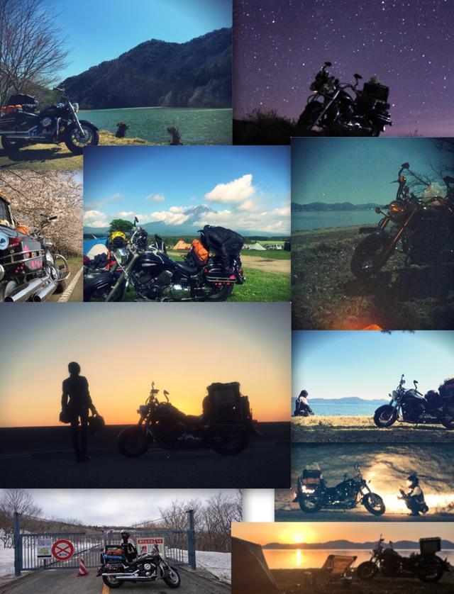 画像: 右上以外は今年上半期に行った写真。知らない景色に出会える、バイクキャンプ。