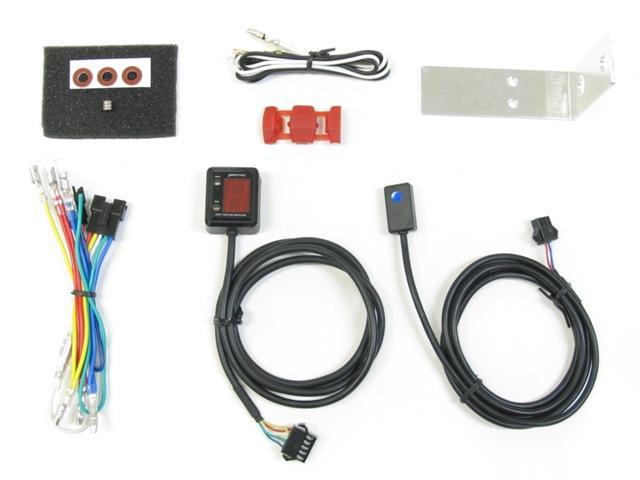 画像: SPI-S54 シフトポジションインジケーター 専用ハーネスキットも同梱されている