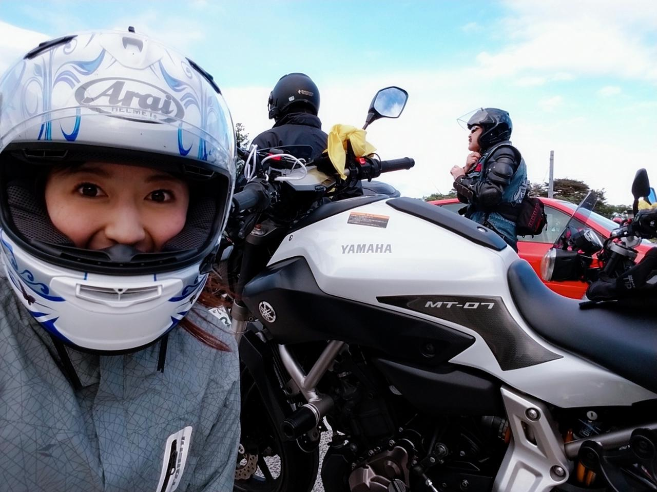 画像: 今回、私はYAMAHAのMT-07で行きました! 実はMT-07に乗るのは初めて。MT-09に比べて素直で可愛い感じ!? 乗りやすさや安定感もあるし、力も十分あるから長距離でもグイグイいける( •̀ᴗ•́ )b