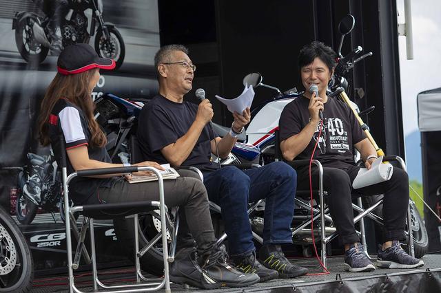 画像: 各国をバイクで旅した経験も豊富な栗栖さん(中央)は、景色が刻々と変わっていく日本のツーリングの楽しさについても語っていました。