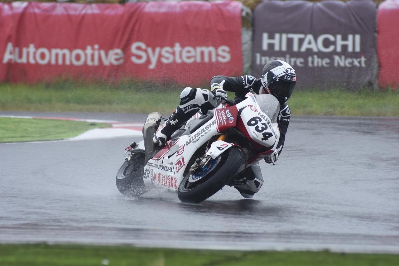 画像: テスト01で雨の中を走り込んだランディ・ドゥ・ピュニエ HRCの正ライダーになる可能性も?