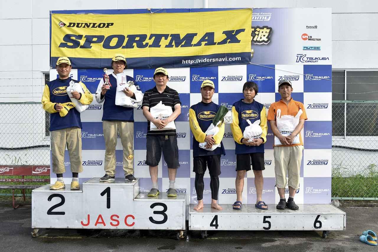 画像: A級入賞者。左から2位・作田選手、1位・冨永選手、3位・池田選手、4位・大越選手、5位・中嶋選手、6位・廣瀬選手