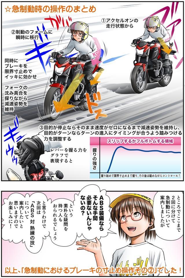 画像4: Motoジム! おまけのコーナー (急制動におけるブレーキの寸止め操作!その2)  作・ばどみゅーみん