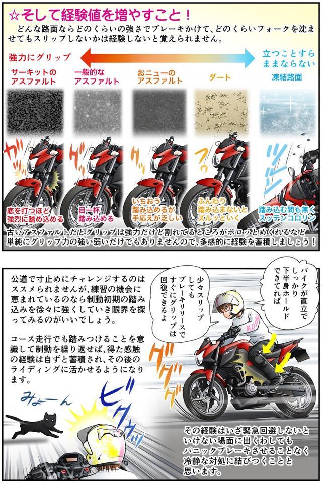 画像3: Motoジム! おまけのコーナー (急制動におけるブレーキの寸止め操作!その2)  作・ばどみゅーみん