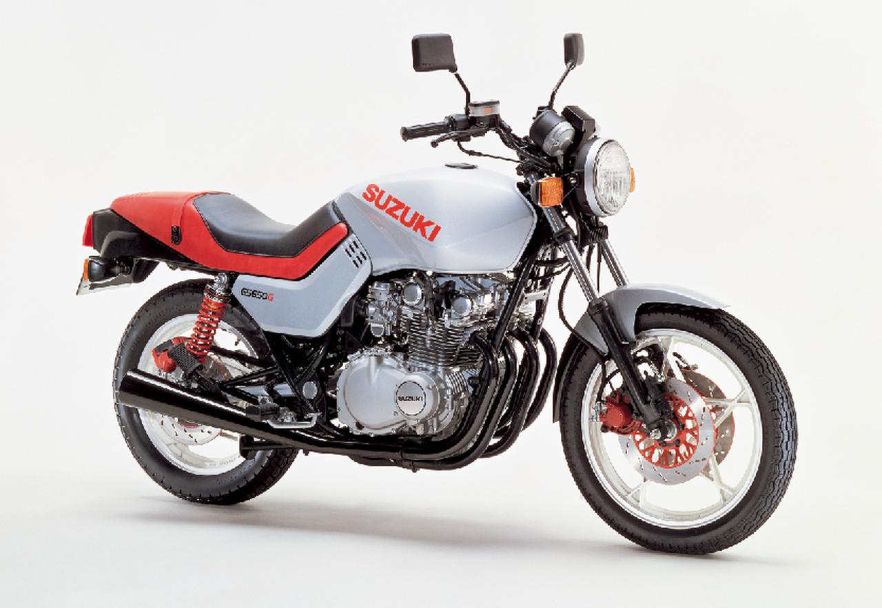 画像: ▲GS650Gは、GSX1100Sが国内販売されなかった(当時は750ccを超えるモデルは国内発売できなかった)ため、ターゲットデザイン社が手掛けたモデルのうち、国内で初めて発売されたモデル。すでに大排気量版の1100カタナが存在していたため、GS650Gのことを「小刀」と呼ぶファンもいた。