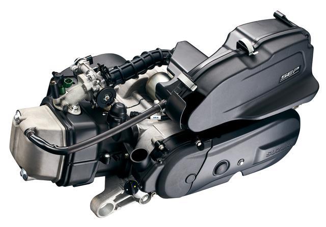 画像: エンジンは空冷で、環境に優しいSEPユニットを採用。パワーは9.4PSだが、軽量な車体をキビキビと走らせるうえ、省燃費も達成。