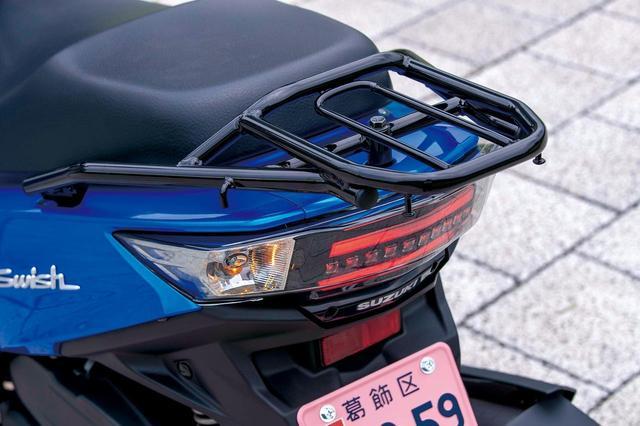 画像: テールランプはストレートタイプのLEDを採用。通勤快速モデルらしく、リアキャリアはしっかりしたものが標準装備となっている。