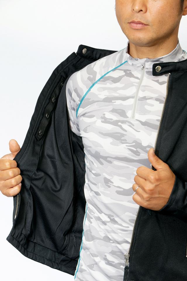 画像: 生地表面が滑らかなので汗をかいてもジャケットが張り付かず、ライディングの妨げにならないし着脱もストレスフリーだ。