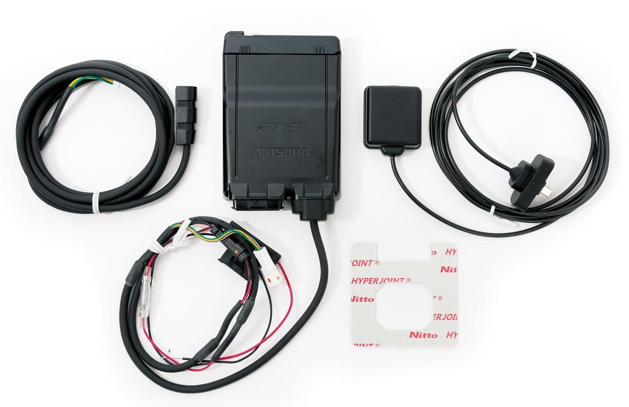画像: 本体サイズは幅81㎜×高さ22㎜×奥行き112.5㎜(突起部除く)とコンパクト。アンテナは電波を受信しやすい場所に、インジケーターは走行中に見やすい場所に設置可能。