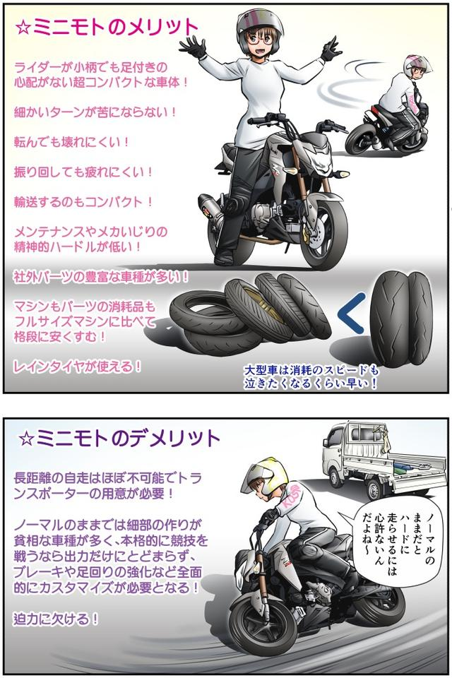 画像2: Motoジム! おまけのコーナー (ジムカーナでも活躍のミニモト!)  作・ばどみゅーみん