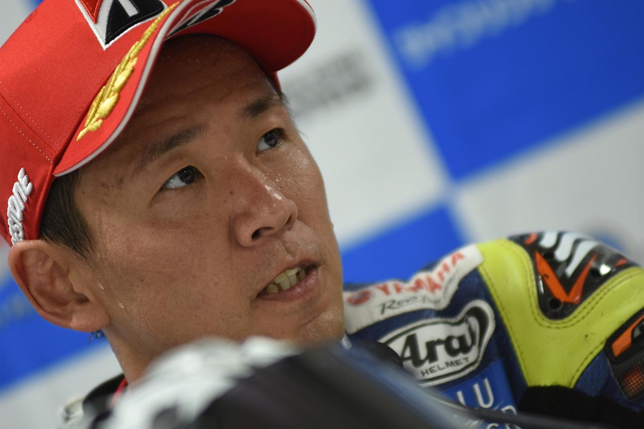 画像: 予選を終えての中須賀 この時点では、まだ23周の決勝に不安があった