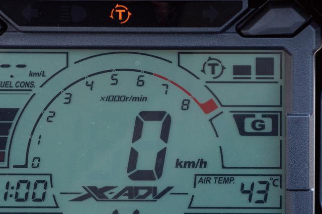 画像: 効き具合を3種類の設定から選択可能なトルクコントロール機構・HSTCを採用していて、選択中のモードはメーター右に表示される。