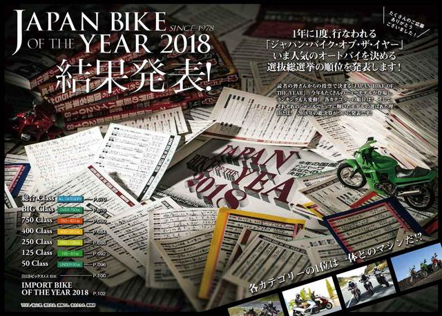画像1: 『JAPAN BIKE OF THE YEAR 2018 結果発表!』