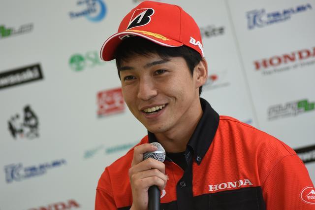 画像: ST600クラスポールシッターはホンダ鈴鹿レーシングの亀井雄大 自身初のポールポジション!