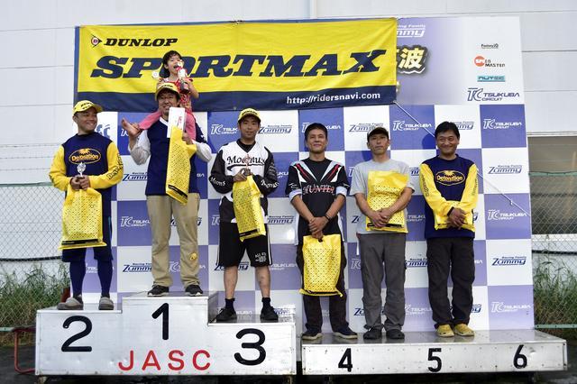 画像: A級入賞者。左から2位・吉野選手、1位・冨永選手、3位・市村選手、4位・古場選手、5位・廣瀬選手、6位・作田選手。