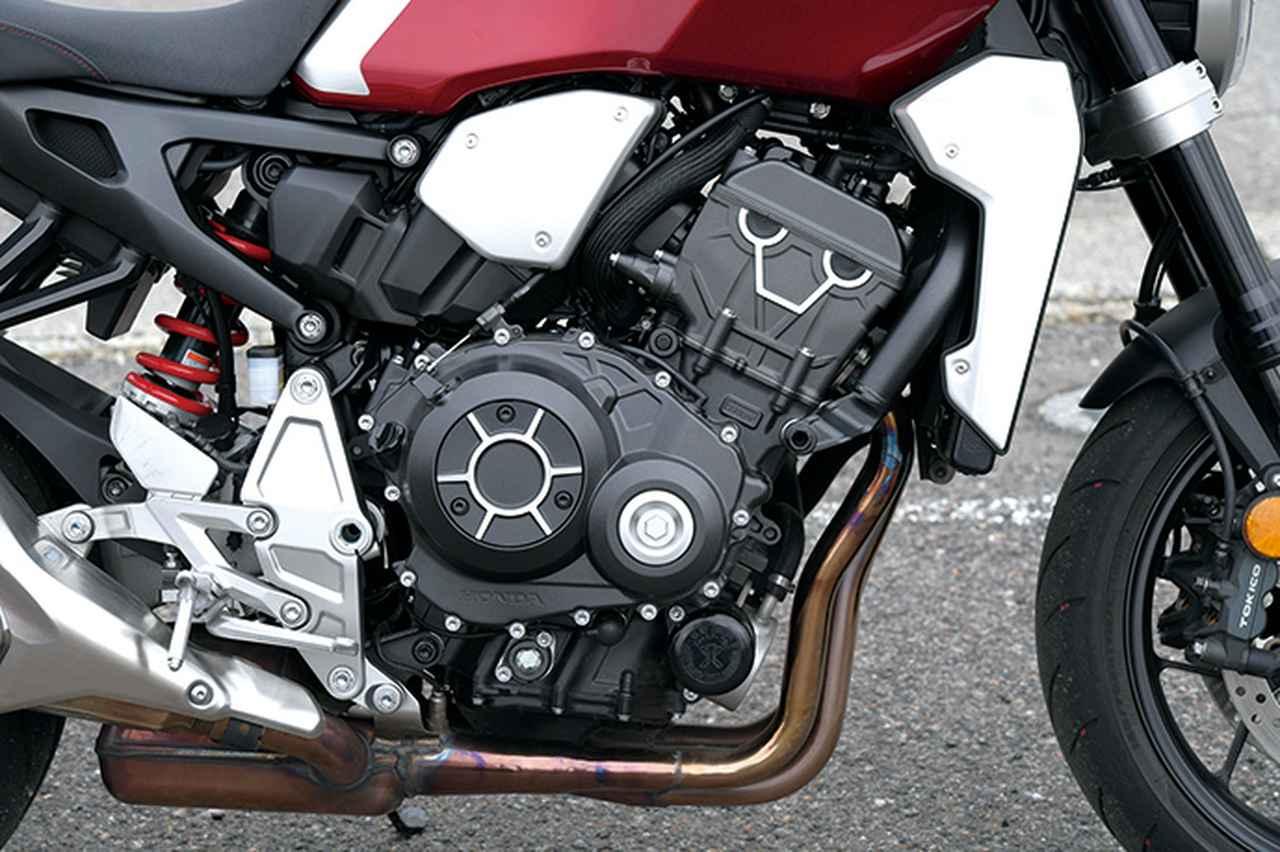 画像: 「エンブレが自然」と伊藤さんが評価するCB1000Rのエンジン。ただオートシフトに関しては、「シフトダウン時はあまり回転上げない感じ。CBR1000RR用の方が好みですね」と評価した。