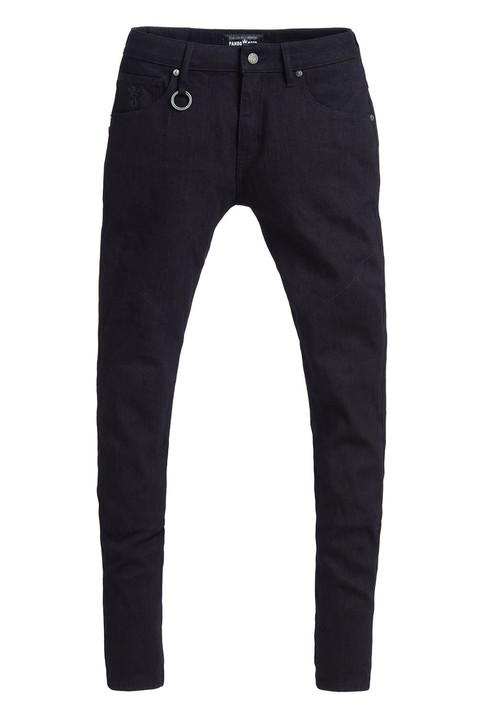 画像: Steel Black MEN定価:55,000円(税込) WOMAN定価:48,000円(税込) 裾は開口調整が可能なストレートストレッチデニム。着脱式膝プロテクター付属。 サイズ:MEN(W28/L34、W30/L32)/ WOMAN(W24/L32)