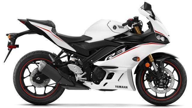 画像: YZF-R3 ABS ビビッドホワイト(北米) www.yamahamotorsports.com