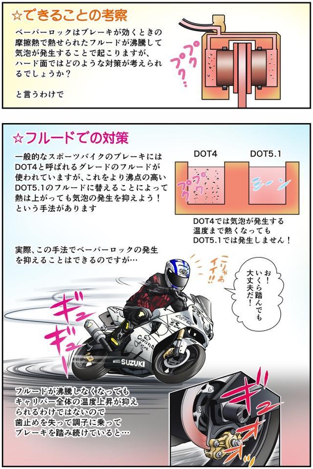 画像2: 【単行本第3巻が新発売!】 Motoジム! おまけのコーナー (加熱するリアブレーキ! その③)  作・ばどみゅーみん