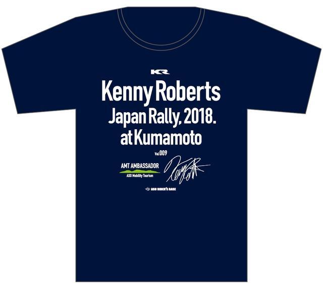 画像: 写真では紺っぽく見えますが、ブラックはこのデザイン。Vol.009のKRJR開催ナンバーとケニーさんのサインプリント入り! S/XL/XXL/XXXL 3500円