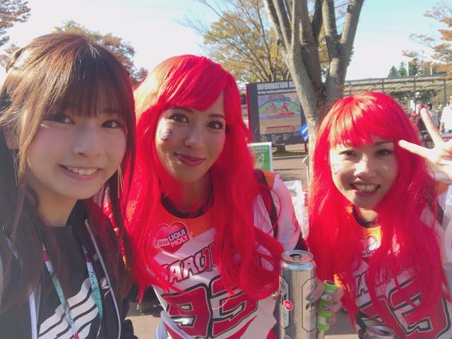 画像2: 【突みう!】葉月美優がMotoGPでHONDAファンへ突撃!!